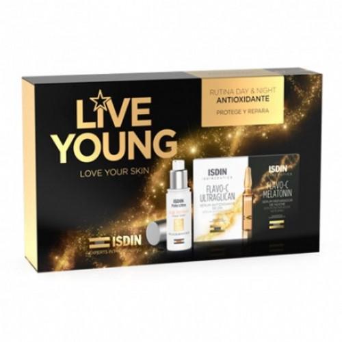 Isdin pack age repair+ampollas flavo-c dia y noche