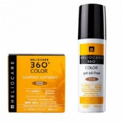 Heliocare 360  pack gel oil free bronze intense + cushion compact