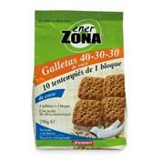 ENERZONA 40-30-30 SNACK GALLETAS (COCO  250 G 40 GALLETAS)
