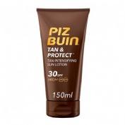 PIZ BUIN TAN & PROTECT FPS - 30 PROTECCION MEDIA - LOCION SOLAR INTENSIFICADORA DE BRONCEADO (150 ML